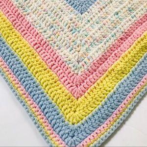 Beautiful Baby Afghan Crochet Blanket Pink Blue